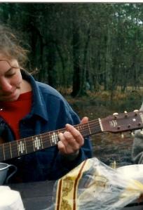 Stella, camping, 1995